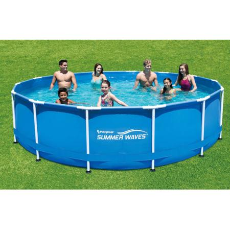 Walmart Summer Waves 15 X 42 Round Metal Frame Above Ground Swimming Pool For 199 Save 130